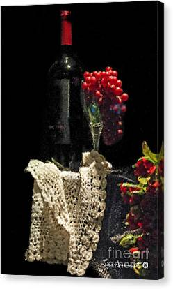 Le Vin Canvas Print by Leona Arsenault