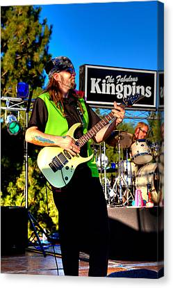 Lead Guitarist Jimmy Dence - The Fabulous Kingpins Canvas Print by David Patterson