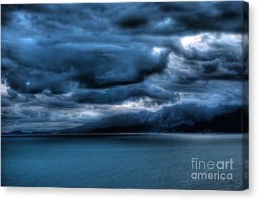 Canvas Print featuring the photograph Leaden Clouds by Erhan OZBIYIK