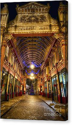 Leadenhall Christmas Lights Canvas Print