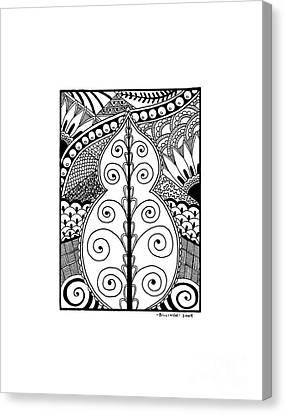 Leaf Canvas Print by Billinda Brandli DeVillez