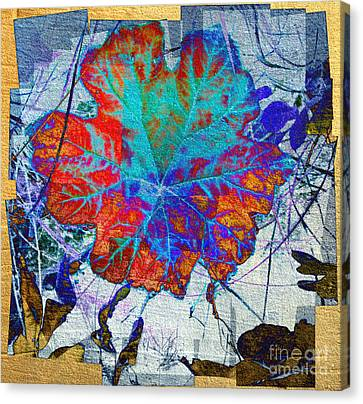 Canvas Print featuring the mixed media Leaf   by Irina Hays