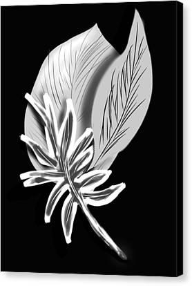 Leaf Ray Canvas Print by Christine Fournier