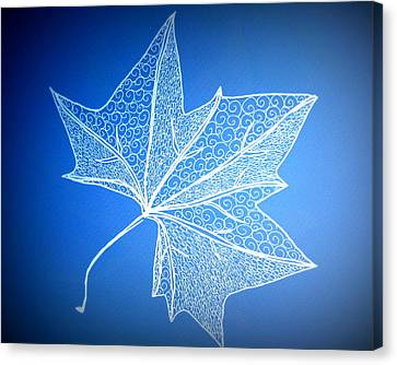 Leaf Study 2 Canvas Print by Cathy Jacobs