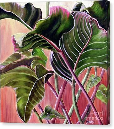 Leafy Canvas Print by Anna-Maria Dickinson