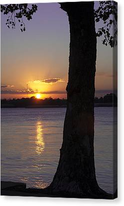 Leake Avenue Mississippi River Sunset Canvas Print by Ray Devlin