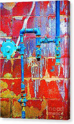 Canvas Print featuring the photograph Leaky Faucet by Christiane Hellner-OBrien
