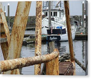 Canvas Print featuring the photograph Lealea In Harbor by Laura  Wong-Rose