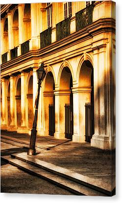 Leaning Lamp Post Canvas Print by Brenda Bryant