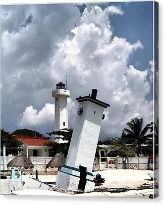 Canvas Print featuring the photograph Leaning Lighthouse Of Mexico by Farol Tomson