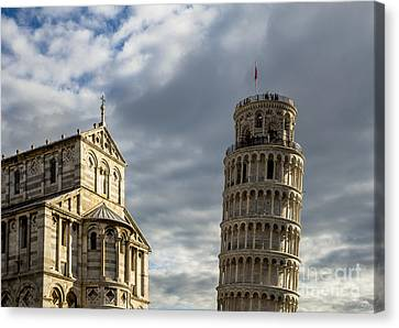 Leaning Tower And Duomo Di Pisa Canvas Print