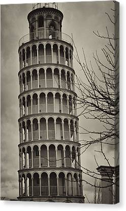 Leaning Tower Canvas Print by Miguel Winterpacht