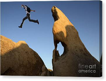 Thelightscene Canvas Print - Leap Of Faith by Bob Christopher