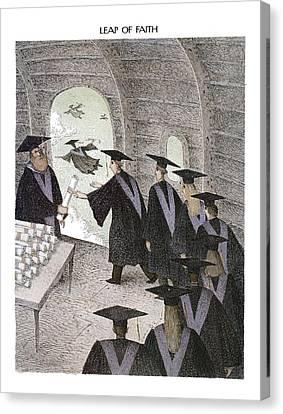 Leap Of Faith Canvas Print by John O'Brien