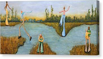 Leap Of Faith Canvas Print by Linda Carmel