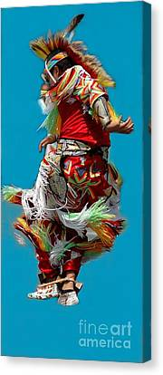 Leaping Into The Air Canvas Print by Kathleen Struckle