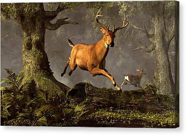 Leaping Stag Canvas Print