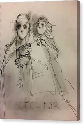 Shakespeare Canvas Print - Lear And Cordelia by H James Hoff