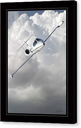Learjet Canvas Print by Larry McManus