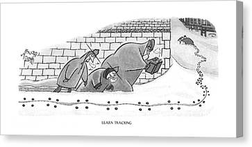 Learn Tracking Canvas Print by Arnold Roth