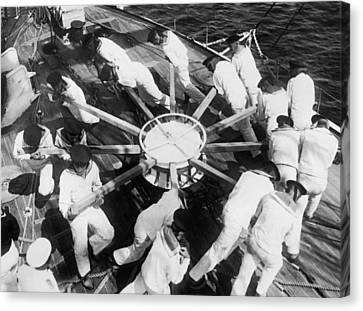 Learning Naval Teamwork Canvas Print by Underwood Archives