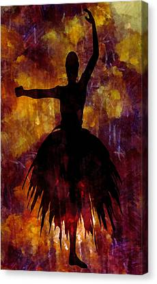 Ballet Canvas Print - Learning The Steps 3 by Angelina Vick