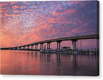 Florida Bridge Canvas Print - Learning To Kneel by Mike Lang