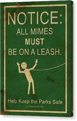 Leash Your Mime Canvas Print