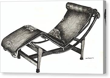 Leather Chaise Longue Canvas Print by Adendorff Design