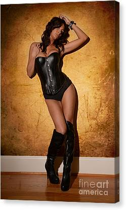 Leather Corset Canvas Print by Jt PhotoDesign