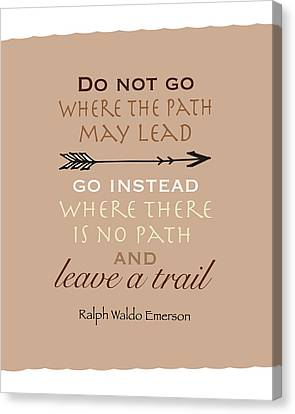 Leave A Trail Canvas Print