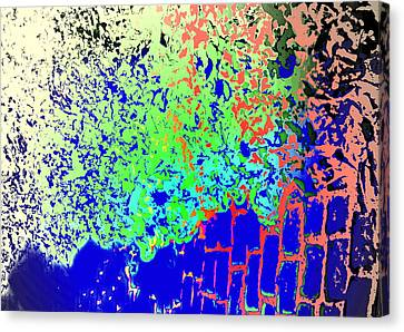 One Can Still See The Leaves And The Squares  Canvas Print by Hilde Widerberg