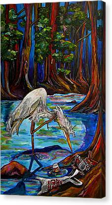 Leave Only Footprints Canvas Print by Patti Schermerhorn