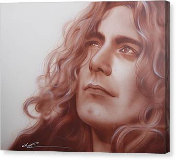 Robert Plant - ' Leaves Are Falling All Around ' Canvas Print by Christian Chapman Art
