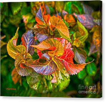 Michelle Canvas Print - Leaves In Motion by Michelle Wiarda-Constantine