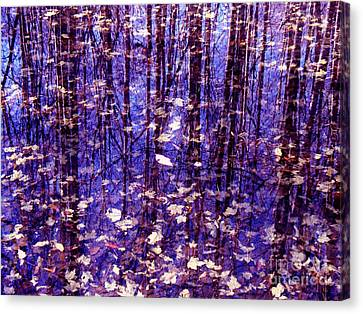 Leaves In Water Canvas Print by Christian Mattison