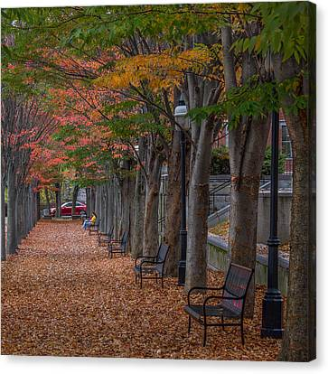 Canvas Print featuring the photograph Leaving by Glenn DiPaola