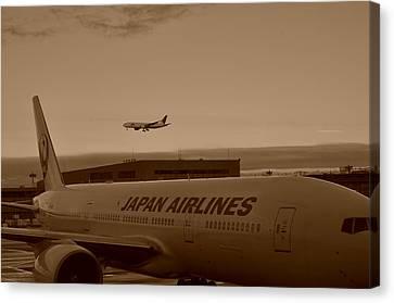 Leaving Japan Canvas Print