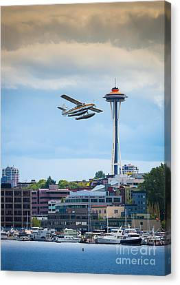Leaving Seattle Canvas Print by Inge Johnsson