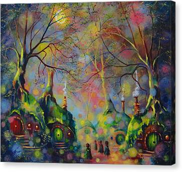 Leaving The Shire Canvas Print by Joe Gilronan