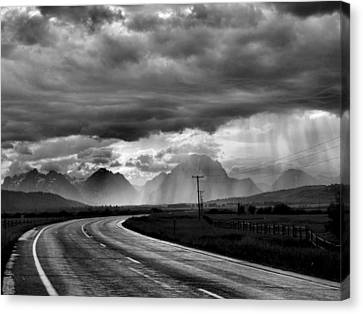 Leaving The Tetons Canvas Print by Steven Ainsworth