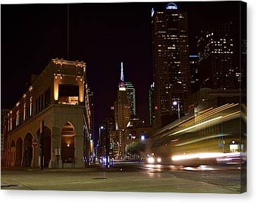Canvas Print featuring the photograph Leaving Town by John Babis