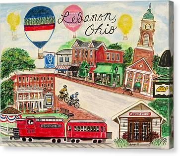 Lebanon Ohio Canvas Print by Diane Pape