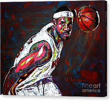 Lebron Canvas Print - Lebron James 2 by Maria Arango