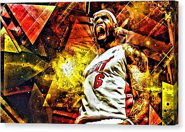 Lebron Canvas Print - Lebron James Art Poster by Florian Rodarte