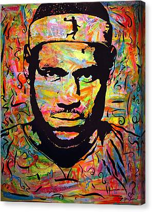 Lebron James Canvas Print by Jean P Losier