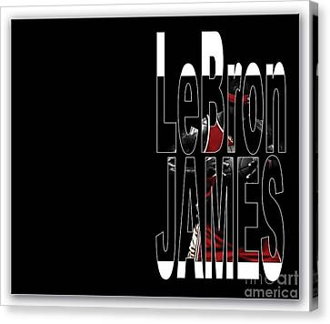 Lebron James Canvas Print by Marvin Blaine