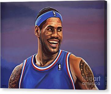 All Star Canvas Print - Lebron James  by Paul Meijering