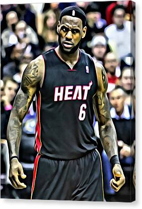 Lebron James Portrait Canvas Print