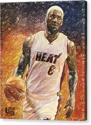 Lebron Canvas Print - Lebron James by Taylan Apukovska